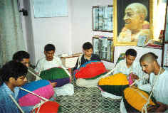 IYF Students Learning To Play Mridanga
